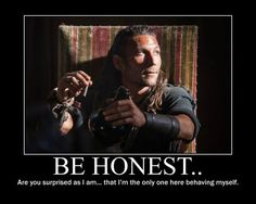 Charles Vane: Black Sails (actor: Zach McGowan) Badass motherfucker, right there, on one of my favorite shows. The meme is pretty appropriate too. Black Sails Actors, Pirate Life, Pirate Art, Sneak Attack, Me Tv, Treasure Island, Motivational Posters, Talk To Me, Fangirl