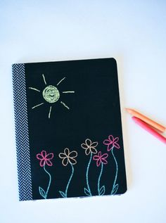 Doodle-ready, DIY Chalkboard Composition Notebooks at PagingSupermom.com