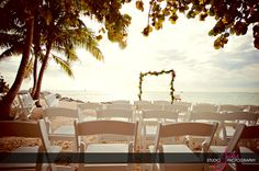 Ocean Key Resort Gorgeous Wedding Setup Of Amber James Photography By Studio Julie Find This Pin And More On Fort Zachary Taylor