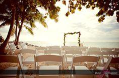 Ocean Key Resort gorgeous wedding setup of Amber & James. photography by Studio Julie.
