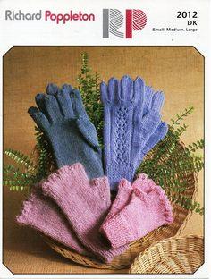vintage ladies gloves knitting pattern PDF DK womens fingerless gloves 2 needles DK light worsted 8ply Instant download by Hobohooks on Etsy