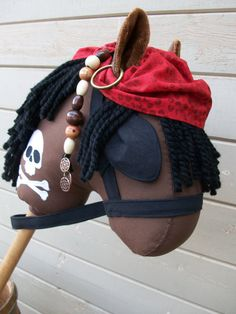 Stick Horse Pirate Captain Jack Hobby Horse by RusticHorseShoe, $54.00