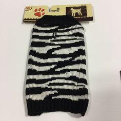 Holiday Winter Dog Black White Sweater Coat New Dog Cloths Christmas Size XS | eBay
