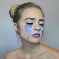 Galaxy makeup, galaxy tears, Halloween makeup, Halloween makeup ideas @missalexandrakennedy