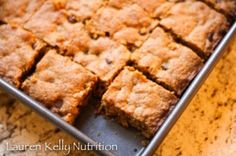 Quinoa Pumpkin Chocolate Chip Squares | Lauren Kelly Nutrition