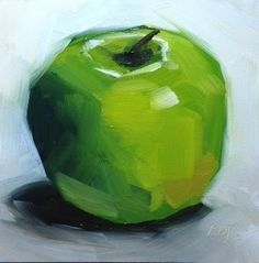 love a green apple painting.the simpler the better.I simply love a green apple painting.the simpler the better.simply love a green apple painting.the simpler the better.I simply love a green apple painting.the simpler the better. Apple Painting, Fruit Painting, Painting Still Life, Still Life Art, Apple Art, Guache, Contemporary Abstract Art, Fruit Art, Hanging Art