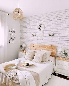 Cute Bedroom Decor, Room Design Bedroom, Room Ideas Bedroom, Neutral Bedroom Decor, White Room Decor, Simple Bedroom Design, Boho Chic Bedroom, Teen Bedroom Designs, Pretty Bedroom