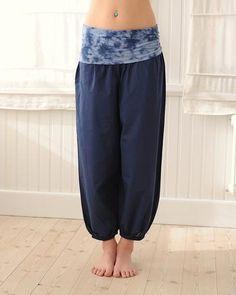 49453a90010 Bubble Pants Tye Dye, Blue Yoga Pants, Harem Pants, Ethical Brands, Yoga