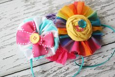 Ruffle and Rosette Headband. Birdie Baby Boutique.