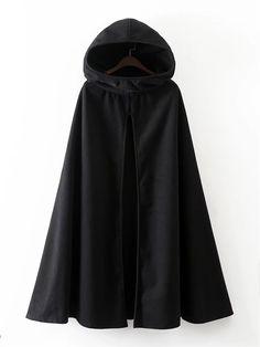 Hooded Black Cloak For Wizards Black/Green/Beige //Price: $35.97 & FREE Shipping // #hermionegranger #dumbledore #malfoy #jamespotter #voldemort