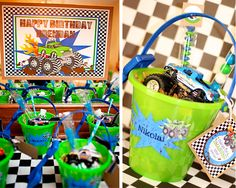 Monster Truck Party: Favor Table