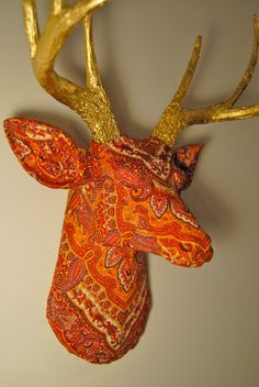 The Bali Deer - Faux Taxidermy Fabric Deer Head by Near and Deer
