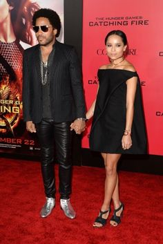 Lenny Kravitz and daughter Zoe Kravitz arrive at the premiere of The Hunger Games: Catching Fire Photo Credit: Jason Merritt/Getty Images