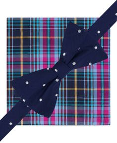 764b600729267 Tommy Hilfiger Dot and Plaid Pre-Tied Bow Tie and Pocket Square Set &  Reviews - Ties & Pocket Squares - Men - Macy's