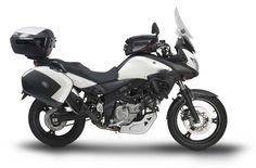 suzuki v strom 650 abs. Love the matching saddle bags!