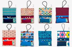 Rolling tobacco pouches handmade fabric Buy more by LaIndustria