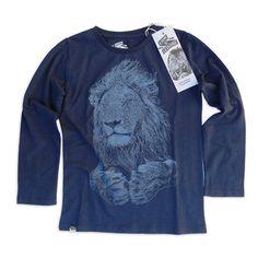 Longsleeve Shirt Lion Blue by Organic Brand Lion of Leisure