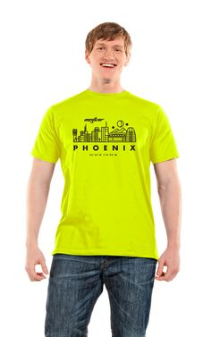 """For every purchase of """"Phoenix Skyline,"""" You and Who donates a matching shirt or a nourishing meal to someone in need in Phoenix, AZ. #SocialGood #BuyOneGiveOne"""