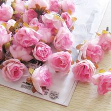 100pcs Multi Color Small Tea Rose Diy Rose Flower Silk Flowers Artificial Flowers Heads For Home Wedding Decoration Flower Head(China (Mainland))