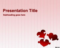 This free PowerPoint template can be used by really lovers or matching websites to find love