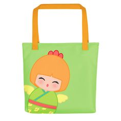 Look cute while grocery shopping with one of our tote bags!!! Chinese Horoscope Rooster Kokeshi - Tote bag