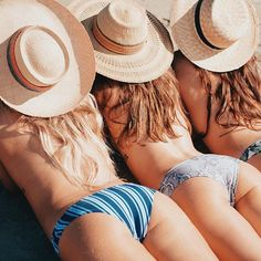 Beach bums + #madlyvintage sun hats for Show Me Your Mumu