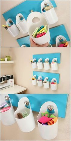 Make hanging bins from bleach bottles. , #bins #bleach #bottles #hanging
