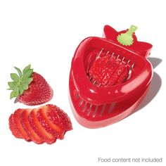 All-in-One Strawberry Slicer and Huller This is great you get nice even slices Slice and dice strawberries is a cinch with this multitool. 4 L x W x 1 H. Strawberry Huller, Plain Cake, Shops, Fruit Displays, Kitchen Essentials, Sweet Memories, Kitchen Gadgets, Just In Case, Dinnerware