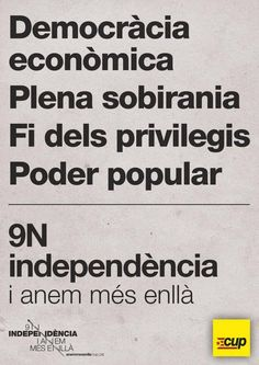 catalan independency. CUP