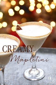 Your holiday cocktail found! Creamy Mapletini Martini