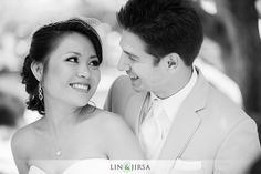 bride and groom adoring looks