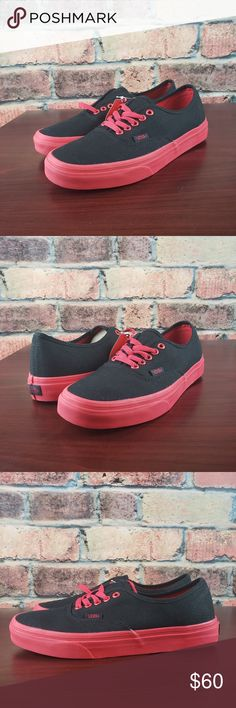 832da36a561217 🦇SOLD Vans Authentic Black Red. Brand new with slightly damaged box. Vans