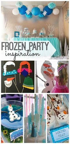 The best decorations, activities, and recipes to help you plan for the ultimate Frozen party! You and your kids will love these Frozen party ideas!