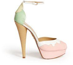ec560bc4ff1d19 Charlotte Olympia Ice Cream Peeptoe Platform Pumps  Lyst Magic Shoes