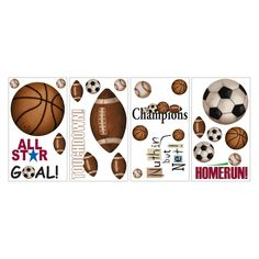 Have to have it. Play Ball Peel and Stick Wall Decals $13.99