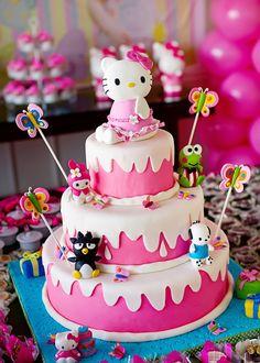 Kello Kitty Birthday Cake