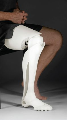 3D Printed Prosthetic Leg. for more prosthetics, check out Bespoke Innovations, another 3D Systems company.