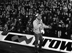 Gerry Marsden sings 'You'll Never Walk Alone' to the Anfield crowd ahead of our European Cup clash with HJK Helsinki on November 2 1982. The Reds ran out 5-nil winners on the night.