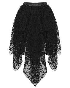 Dark In Love Skirt Black Goth Punk Witch Cobweb Spider Web Lace Deathrock #DarkInLove #Maxi #Casual
