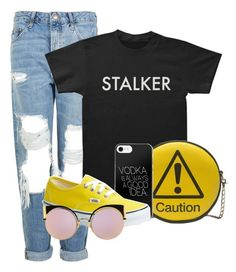 """""""Stalker"""" by skyes-are-blue ❤ liked on Polyvore featuring Topshop, Melie Bianco, Vans and Fendi"""