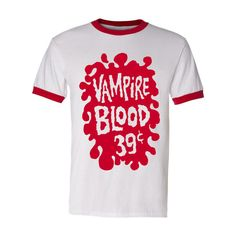 Vampire Blood Shirt vintage style ringer classic halloween plastic fangs tee t Vintage Adidas, Little White, Football Shirts, American Apparel, Cool T Shirts, Vintage Fashion, Vintage Style, Shirt Style, Trending Outfits