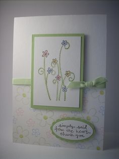 stampin up card ideas   ... you need to make today's card – all supplies from Stampin' Up