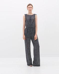 LONG SHEER JUMPSUIT from Zara