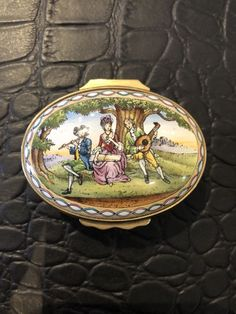 Halcyon Days Enamel Box - Music Box Limited Edition.171 out of 750. Beethoven's 6th Symphony, the Pastoral symphony.