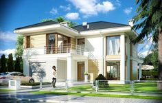 Projekt domu Riwiera 2 - wizualizacja frontu