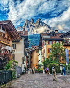 Village in Dolomites, Italy