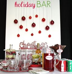 holiday bar - http://celebrationsathomeblog.com/2010/12/creating-your-holiday-bar.html