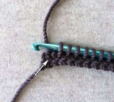 Tunisian Crochet Pointy Pom Pom Hat   Purl Soho