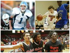 Before they were Wichita State Shockers, Ron Baker (top left), Evan Wessel (top right) and Fred VanVleet (bottom) made their names as high school standouts — and not just in basketball.