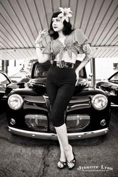 Pin up #classic #car #model . Photography by Jeniffer Lynn